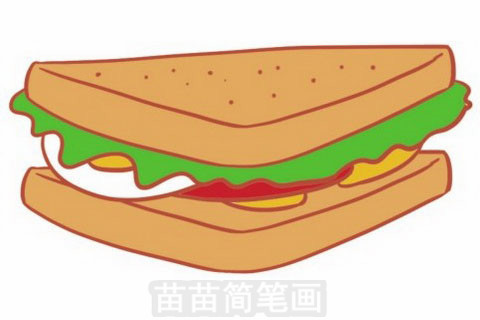 三明治简笔画大图