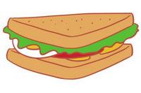 三明治简笔画图片大全、画法