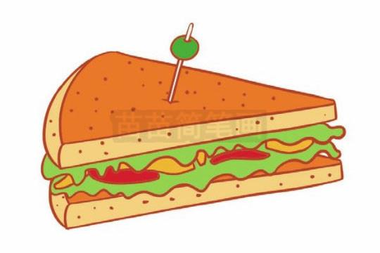 三明治简笔画图片大全作品二