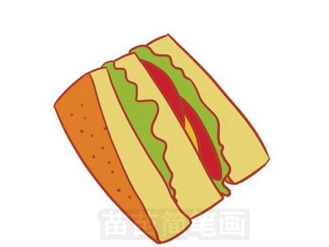 三明治简笔画图片大全作品五