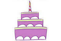 生日蛋糕简笔画怎么画、图片大全