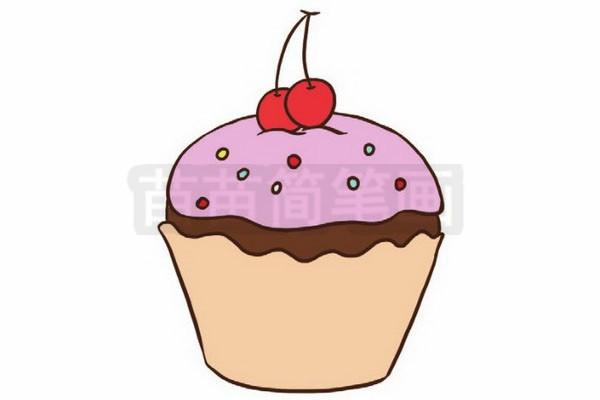 生日蛋糕简笔画图片步骤四