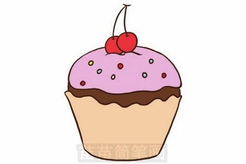 生日蛋糕简笔画大图