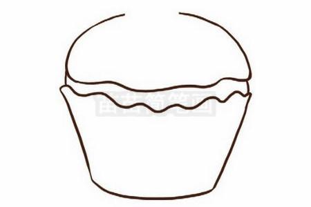 生日蛋糕简笔画图片步骤二
