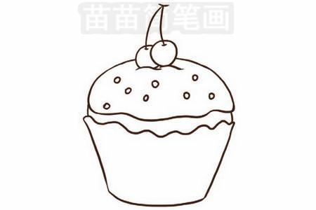 生日蛋糕简笔画图片步骤三