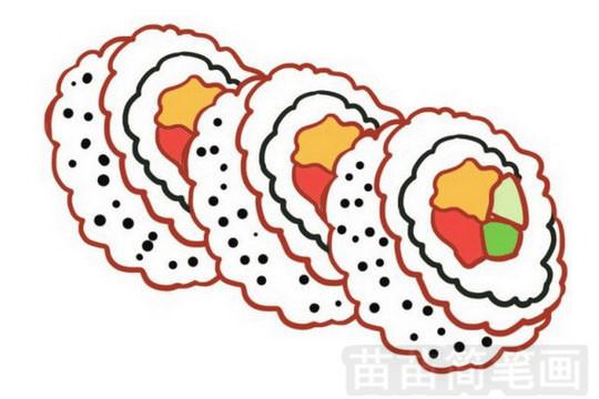 寿司简笔画图片大全作品一