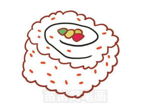 寿司简笔画图片大全作品五