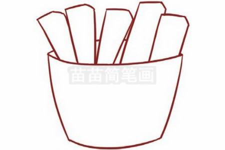 薯条简笔画图片步骤二