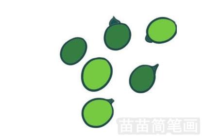 豌豆简笔画图片大全作品一