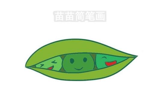 豌豆简笔画图片大全作品三