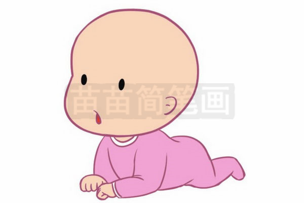 婴儿简笔画图片步骤四