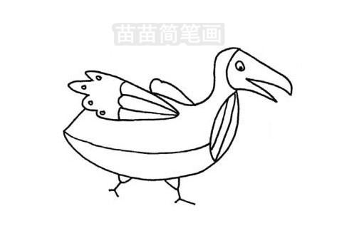 渡鸟简笔画图片大全作品三