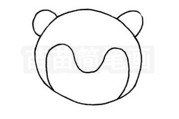 狐猴简笔画图片步骤二