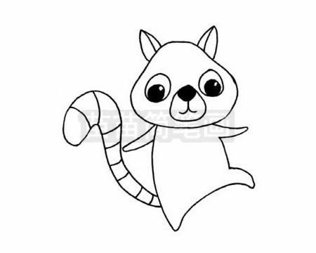 狐猴简笔画图片大全作品二