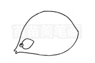 接吻鱼简笔画图片步骤二