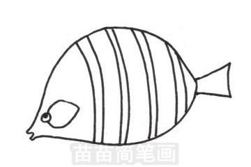 接吻鱼简笔画图片步骤三