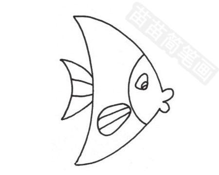 接吻鱼简笔画图片大全作品四