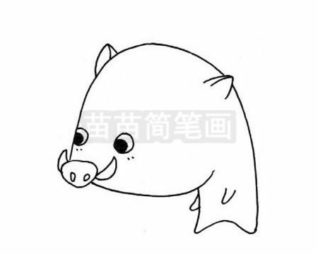 野猪简笔画图片大全作品二