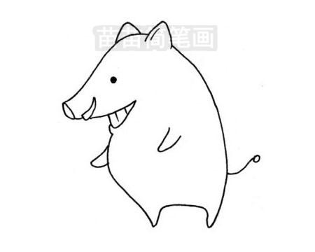 野猪简笔画图片大全作品三