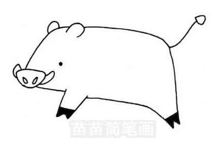 野猪简笔画图片大全作品五