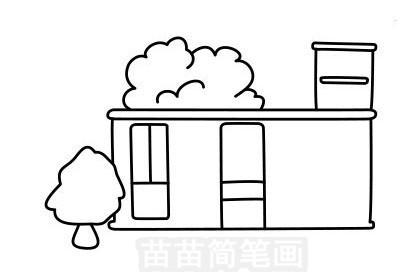 车站简笔画图片大全作品五