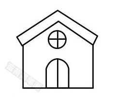 教堂简笔画图片步骤三