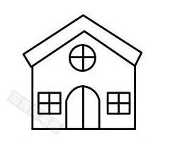 教堂简笔画图片步骤四