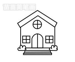 教堂简笔画图片步骤五