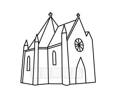 教堂简笔画图片大全作品三