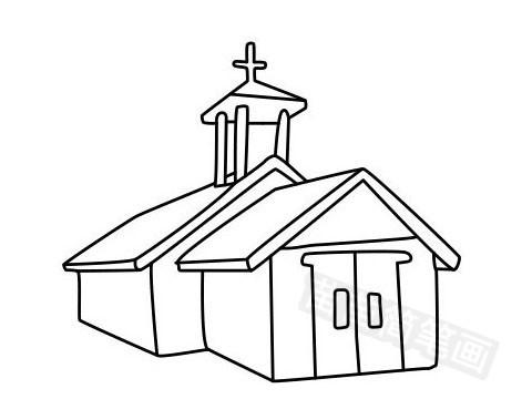 教堂简笔画图片大全作品五