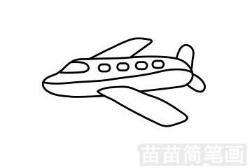 客机简笔画图片步骤一