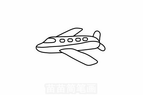 客机简笔画大图