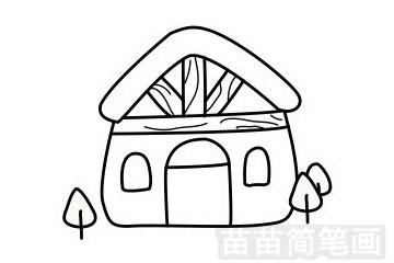 木屋简笔画图片步骤一