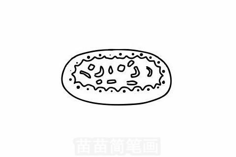 披萨简笔画大图