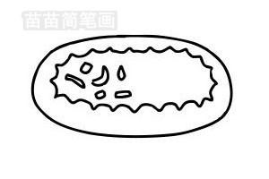 披萨简笔画图片步骤五