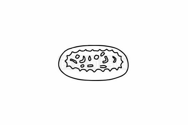 披萨简笔画图片步骤六