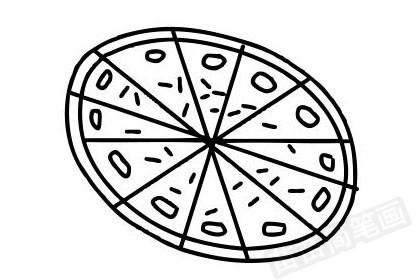 披萨简笔画图片大全作品四