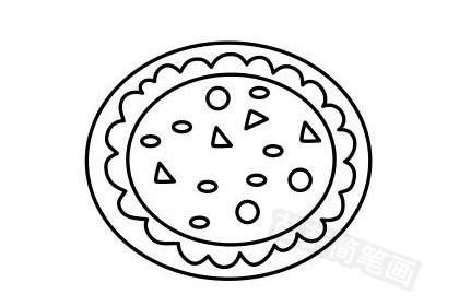 披萨简笔画图片大全作品五