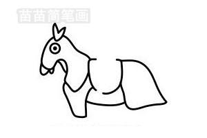 骑士简笔画图片步骤三