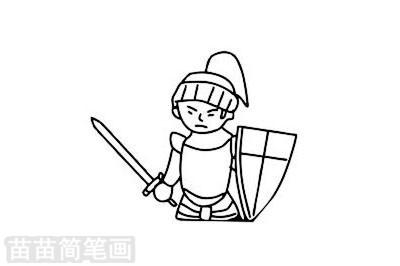 骑士简笔画图片大全作品二