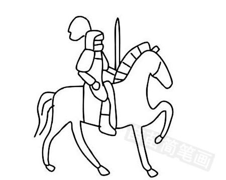 骑士简笔画图片大全作品五