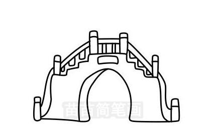 小桥简笔画图片大全作品三