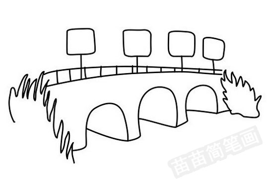小桥简笔画图片大全作品四