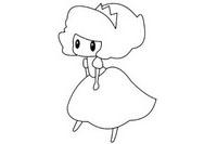 爱洛公主简笔画图片大全、教程