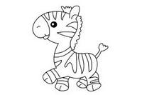 斑马简笔画图片大全、教程