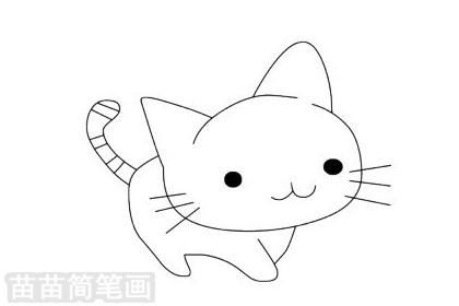 猫咪简笔画图片大全作品二