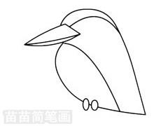 翠鸟简笔画图片步骤二