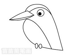 翠鸟简笔画图片步骤三