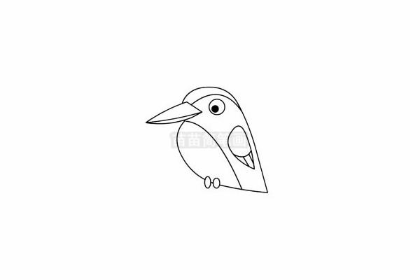 翠鸟简笔画图片步骤四