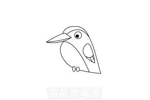 翠鸟简笔画大图